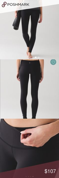 NWT🕉Lululemon🕉Wunder Under Pant III NWT🕉Lululemon🕉Wunder Under Pant III in black with turquoise blue waistband (see pic 4). They are the exact fit and pant as pictures 1-3, just with turquoise at waist. Designed like second skin. Full-on Luon fabric is sweatwicking and fourway stretch with added support and full coverage! Medium rise, full length these stay in shape and bend with you. I ship with free lulu bag!😍 also please check out my other listings and ratings. Both are PHENOMENAL 😍…