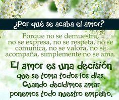 Dicen q el amor es una decisión no un sentimiento.!