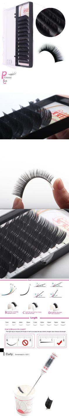 D curl 0.05-0.25mm 100% handmade real mink fur false eyelash natural soft synthetic mink individual eyelash extension