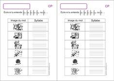 Exercices d'écriture CP écrire les syllabes