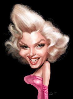 Marilyn Monroe  Artist: Marco Calcinaro  website: http://www.marcocalcinaro.com/