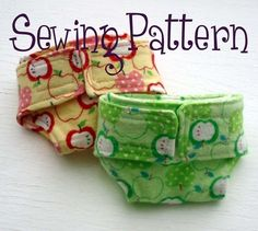 Doll diaper pattern now with two sizes  PDF by purplelizarddesign, $3.00