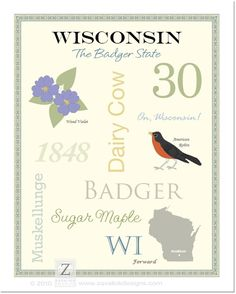 Wisconsin State Pride Series Poster by AsYouWishPrinting