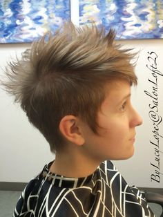 Edgy short hair by Lucy Lopez  Cleveland Ohio