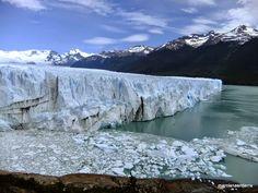 Glaciar Perito Moreno frente al canal de los témpanos (provincia de Santa Cruz en la Patagonia)