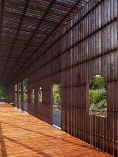 Villa B / Schneider + Schumacher - corten steel pavillion