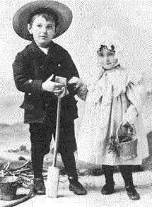 Basil Rathbone (1892-1967) with his little sister, Beatrice.