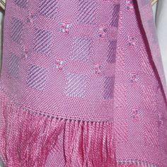 Handwoven Scarf Lavender Honeysuckle Pink  Silk  by beadandshuttle, on Etsy