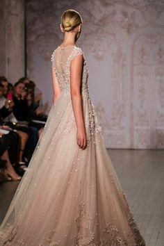 Monique Lhuillier blush pink wedding dress