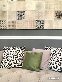 Rahaus De style sofa stil berlin rahaus wandpanel kissen