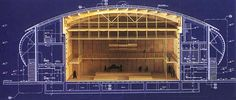 Section through middle-sized small hall. Photo courtesy Renzo Piano Building Workshop