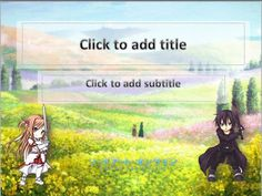 Anime theme for the post this week, from the previous design template powerpoint about angry bird star war this time, brings anime that is popular is Sword Art Online. Starring Kirito and Asuna, a story about virtual worlds or online games.