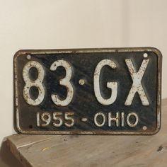 Vintage 1955 Ohio License Plate by oZdOinGItagaiN on Etsy, $15.00