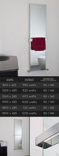 <span style='color: #000000;'>Mirage Heated Mirror Towel Rail Radiator (110D)</span>