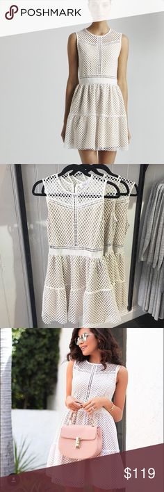 Mesh Lace Dress Beautiful white lace mesh dress which is regular length not too long nor too short. Shila Dresses