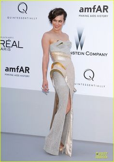 """#Milla Jovovich at #Cannes Film Festival 2012 wearing """"AtelierVersace"""