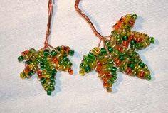 patron feuilles et arbre en perles de rocailles http://ruedesperles.free.fr/erable.php