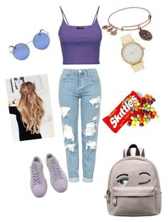"""Random✨"" by angeliqueamor on Polyvore featuring Topshop, Puma, Alex and Ani and Skagen"