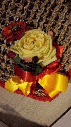 """IN CORDONETTO DECORATI IN FETTUCCIA,RAFIA,CORDINO,FIORI, ALL'UNCINETTO (lavabili da esterno) IN CORD """"STRAP DECORATED, raffia, LANYARD, flowers, Crochet (outdoor washable)"""