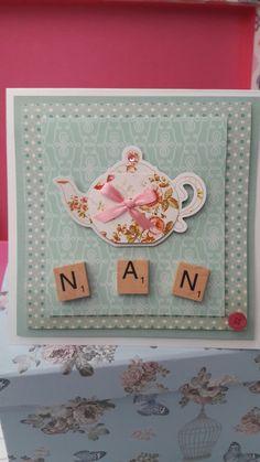 Scrabble Nan birthday/mother's day card