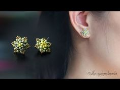 Mini six petal flower stud earrings. How to make beaded earring MATERIALS: - seed beads colors) - seed beads - seed beads - stud earring fin. Seed Bead Jewelry, Bead Jewellery, Seed Bead Earrings, Simple Earrings, Diy Earrings, Earrings Handmade, Beaded Jewelry, Beaded Bracelets, Stud Earrings