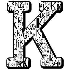 K-splattered K by Julie Hartman...