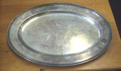 Vintage Silver Plated Harth Oval Serving Tray from Hotel Wyndham | eBay