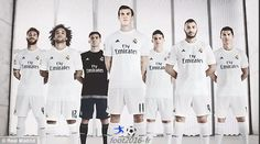 nouveau maillot Real Madrid 2015 2016 Personnaliser