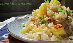 Hawaiian Luau Rice is a little sweet, a little savory and little bit tropical and the perfect cure for the dog days of summer. Greek Side Dishes, Fresh Ham, Luau Food, Lemon Rice, Rice Ingredients, Hawaiian Luau, Hawaiian Recipes, Toasted Coconut, Coconut Oil