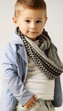 What a stylish cutie patootie little boy! Love his scarf