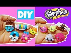 Kawaii Candy Shopkins 10 in 1 polymer clay charms tutorial