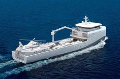 Marimecs and Van Geest Design unveil 62m yacht support vessel - New Designs - SuperyachtTimes.com