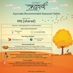 Ritucharya (ऋतुचर्या) - Ayurveda Recommended Seasonal Habits - Part 2 Ayurveda, Ayurvedic Healing, Ayurvedic Diet, Sanskrit Quotes, Sanskrit Mantra, Vedic Mantras, Health Tips, Health And Wellness, Pitta Dosha