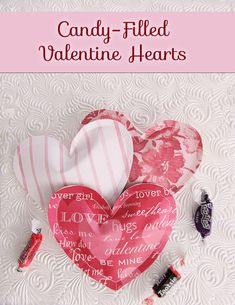 Candy Filled Paper Valentine Heart Treats