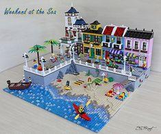 Weekend al mare - sdrnet - Il Forum di ItLUG – Italian LEGO® Users Group Weekend at the sea - sdrnet Lego Display, Lego Modular, Lego Design, Lego City, Lego Beach, Lego Village, Lego Furniture, Minecraft Furniture, Furniture Ideas