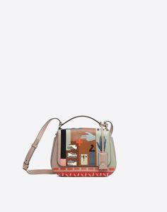 VALENTINO Logo Solid color Framed closure External pockets Internal pockets Adjustable shoulder straps 45378549kb