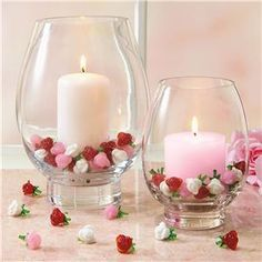 Baby shower decoration - Candle style with roses