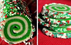 Colourful swirl cookies