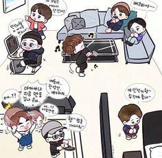 Exo xiumin heart for you vlive Kai Exo, Exo Xiumin, Exo Fanart, Exo Cartoon, Exo Anime, Kpop Drawings, Xiuchen, Exo Korean, Cute Chibi