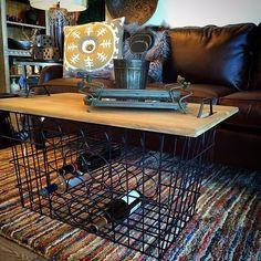 Entertaining will be a breeze with this multi-purpose wine rack table. Iowa Interior Designers | Surroundings Interiors