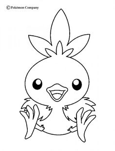 Torchic Pokemon coloring page. More Fire Pokemon coloring sheets on hellokids.com