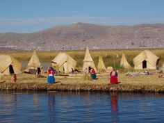 Los Uros, situated at Titicaca Lake in Perú.