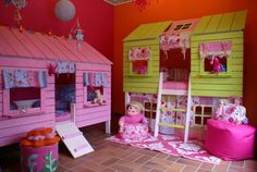 I'd seriously love to build these for my kids....maybe when we have  a house for real...  Treehouse beds by JustKiddingkidsrooms, via Flickr  (Could possibly DIY with palettes)