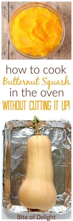 How to roast a whole butternut squash in the oven Easy Recipe Tutorial Roast Whole Butternut Squash, Vegan Butternut Squash Recipes, Butternut Squash In Microwave, Butternut Squash Side Dish, Butternut Squash Casserole, Vegetable Dishes, Vegetable Recipes, Vegetable Ideas, How To Cook Squash