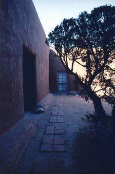 Georgia O'Keeffe's courtyard, Abiquiu house