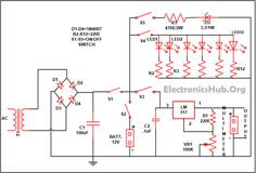 Mobile Phone Travel Battery Charger Circuit with Emergency Light. Resource Link:http://www.electronicshub.org/mobile-phone-battery-charger-with-emergency-light/