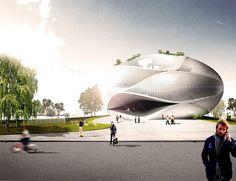 FR-EE, Fernando Romero Enterprise, MADU, Mexico City, sphere, helicoid, undulating concrete slab, organic architecture, museum architecture