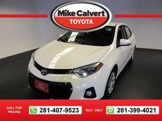 2014 Toyota Corolla LE 35k miles $16,980 35108 miles 281-407-9523  #Toyota #Corolla #used #cars #MikeCalvertToyota #Houston #TX #tapcars
