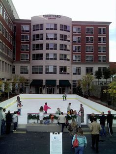 ice rink outside the mariott in downtown greenville sc
