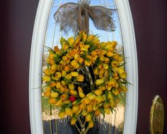 Spring Summer Grapevine Door Tulips Wreath by AnExtraordinaryGift, $60.00